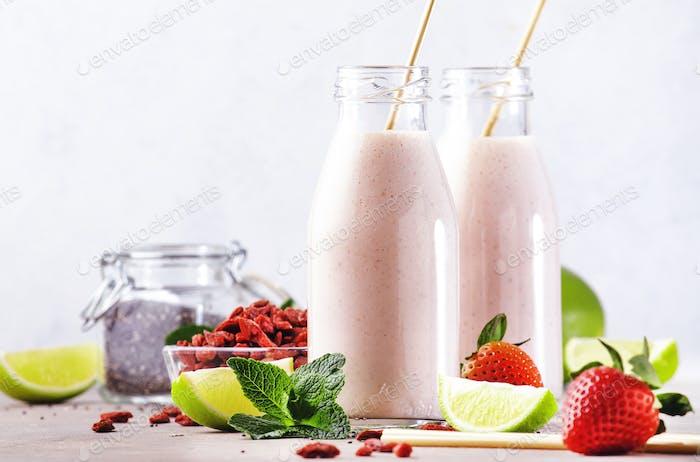 Healthy blended superfood drink