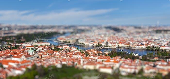 Vista del Puente de Carlos sobre el río Moldava, Praga