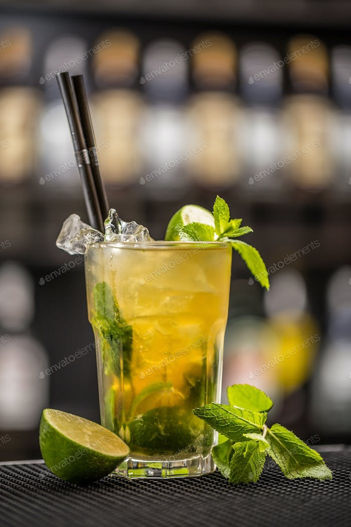 Mint julep cocktail