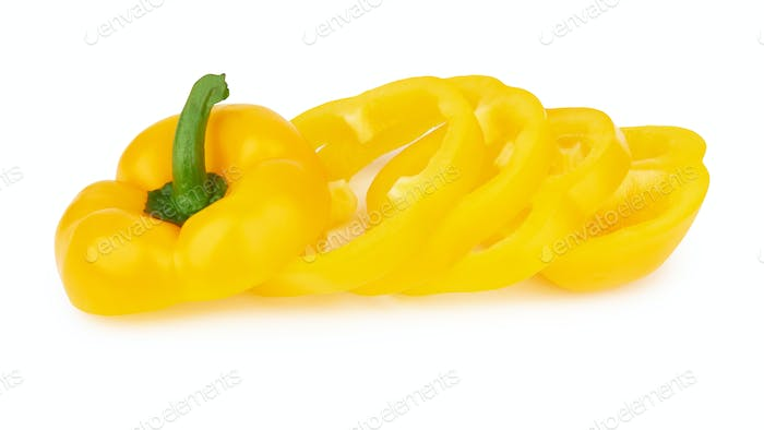 sweet peppers on white