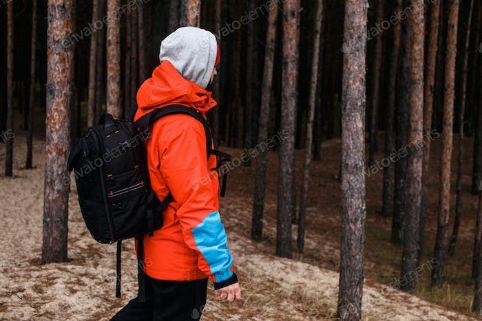 Walking in the forest
