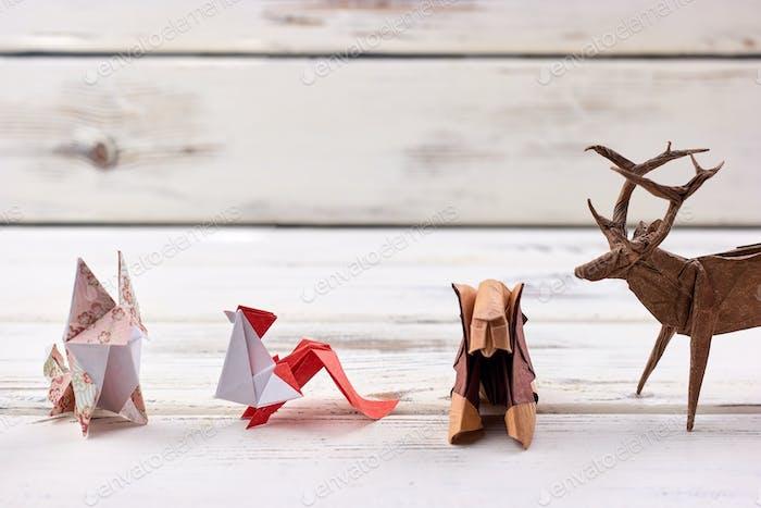 Origami animal models