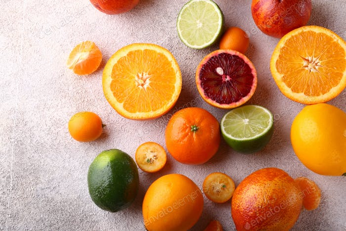 Natürliche Bio-Zitrusfrüchte