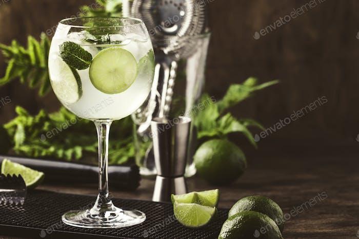 Martini royale alcoholic cocktail