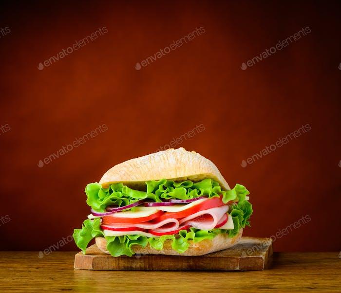 Lecker Sandwich-Burger