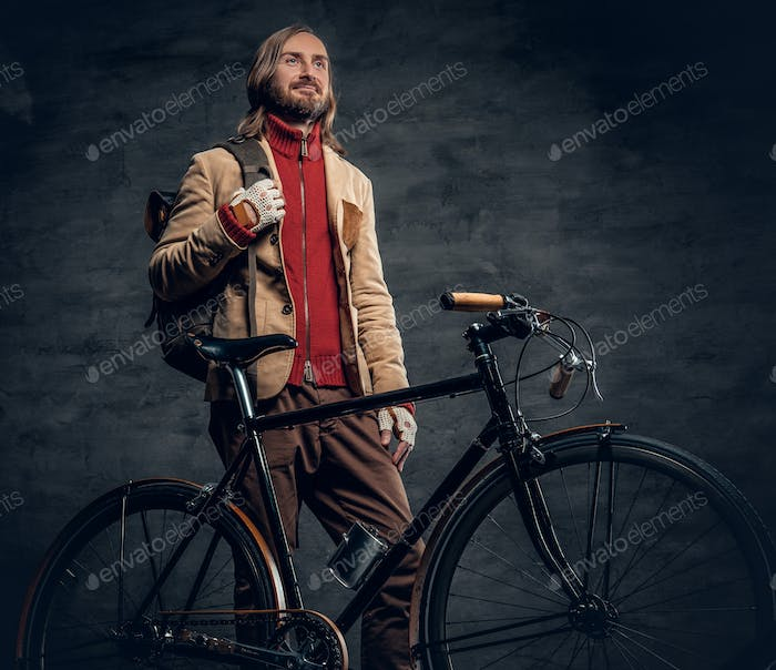 A man with fixed bike.
