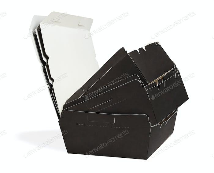 Leere Papierboxen zum Mitnehmen
