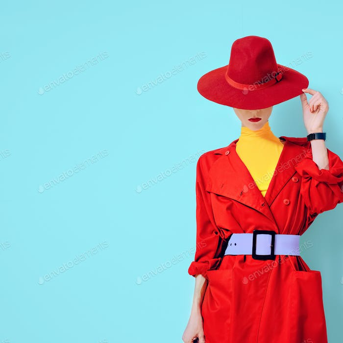 beautiful vintage lady fashionable style
