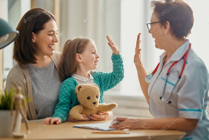 Child at a doctor's appointment