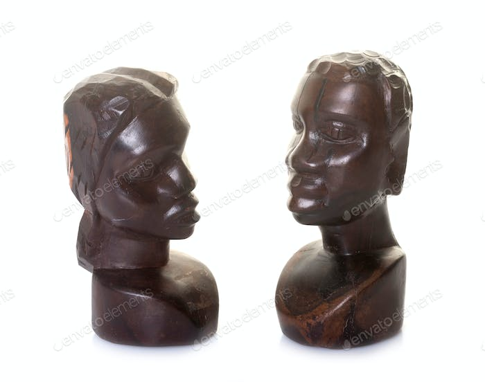ebony scupture face