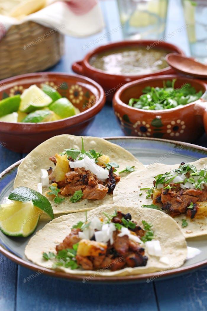 tacos al pastor, mexikanische Küche