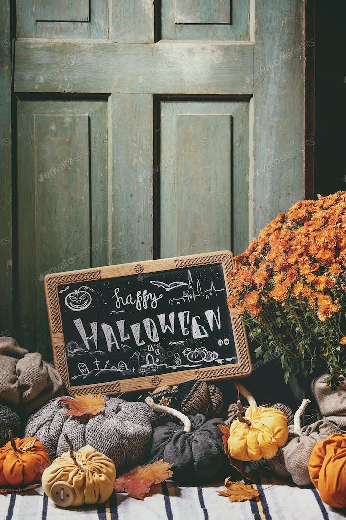 Textile pumpkins for home decor