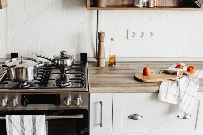 Kitchen  in scandinavian style