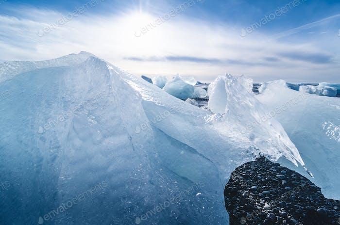 jokulsarlon beach, iceland