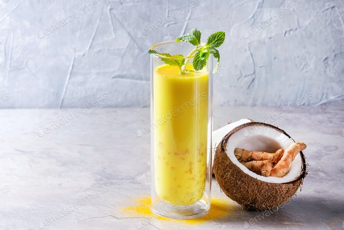 Turmeric golden milk iced latte