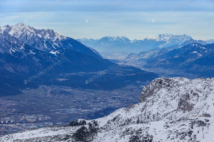 winter mountain landscape. Innsbruck, Austria