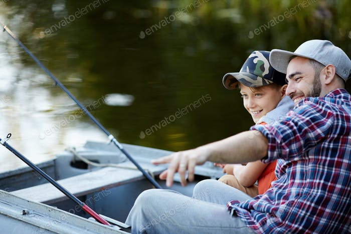 Fishing on the boat