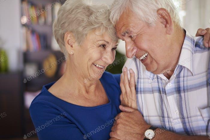 Senior couple still in love