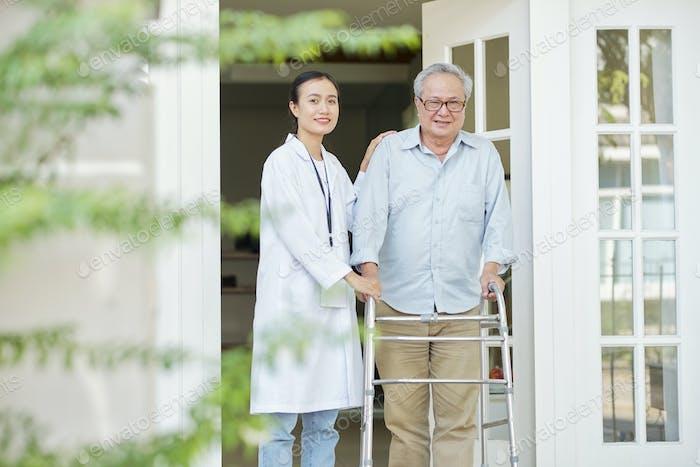 Man at nursing home
