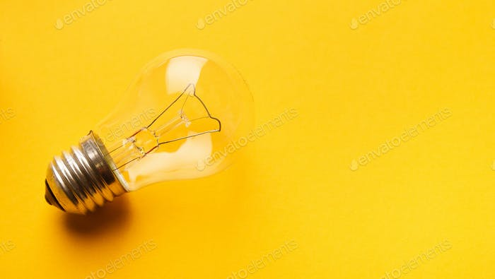 Abstract creative background with light bulb