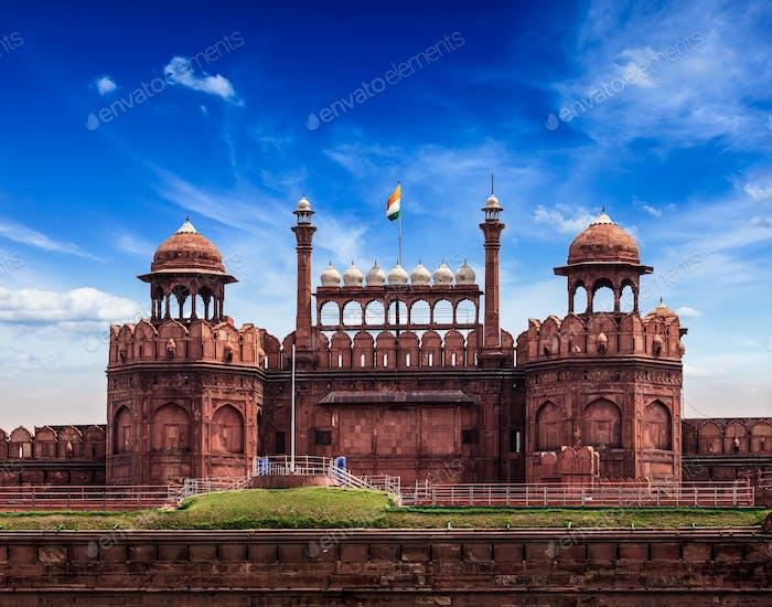 Red Fort (Lal Qila). Delhi, India