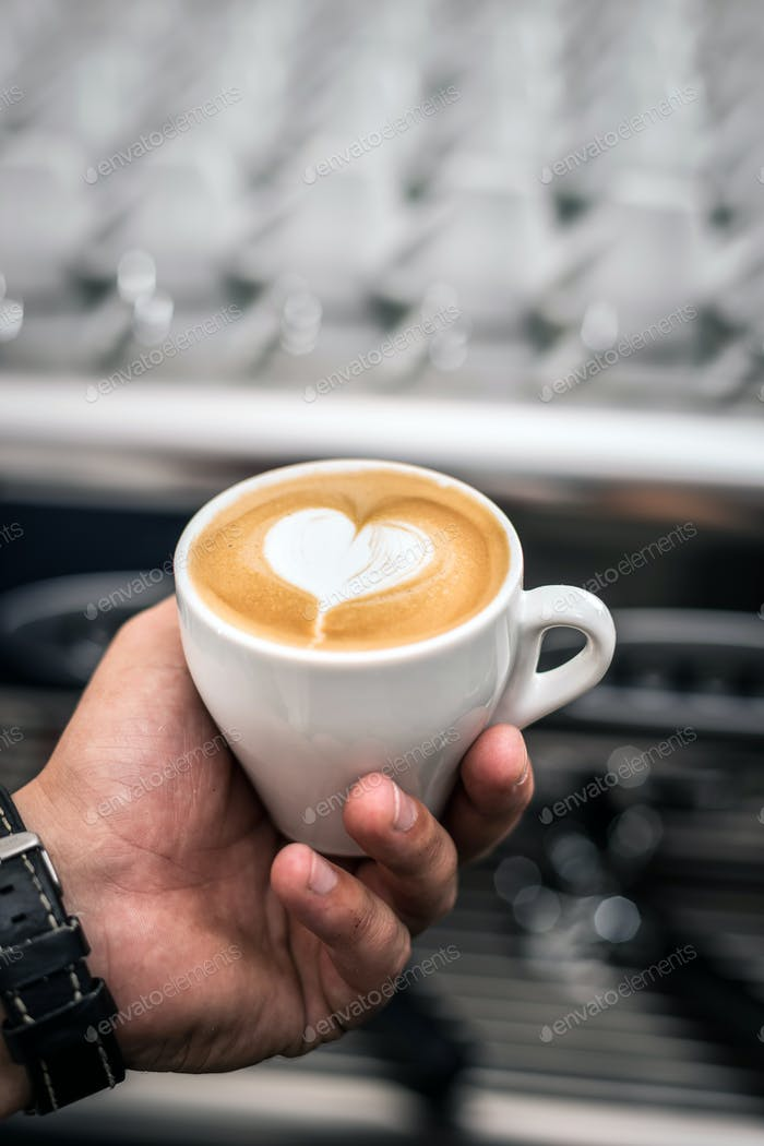 Latte Kaffee Kunst