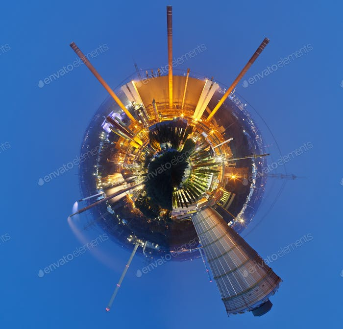Little Industry Planet At Night