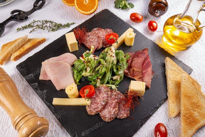 Meat delicatessen board