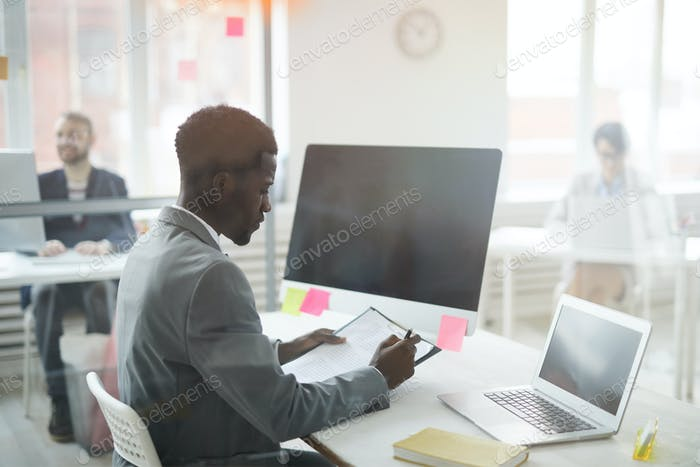 African Businessman at Workplace