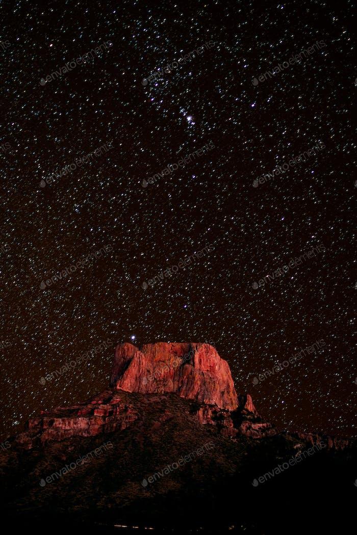 Casa Grande Peak in Big Bend NP Texas Vereinigte Staaten von Amerika