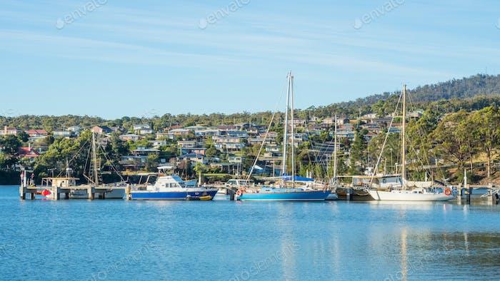 Boats at St Helens, Tasmania