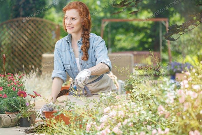Propietario de la empresa de jardinería