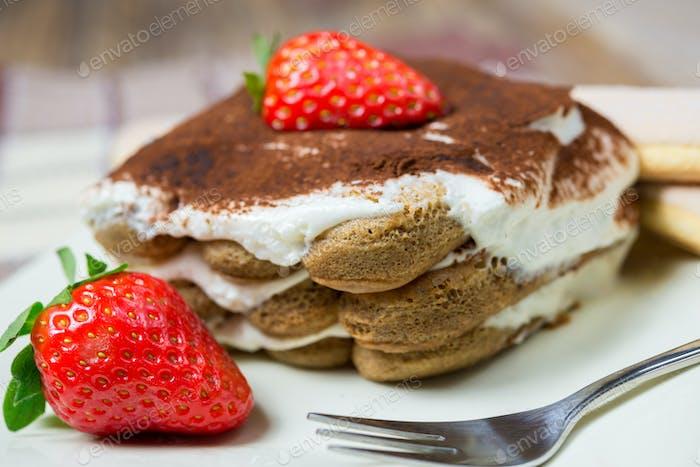 Italian dessert  tiramisu