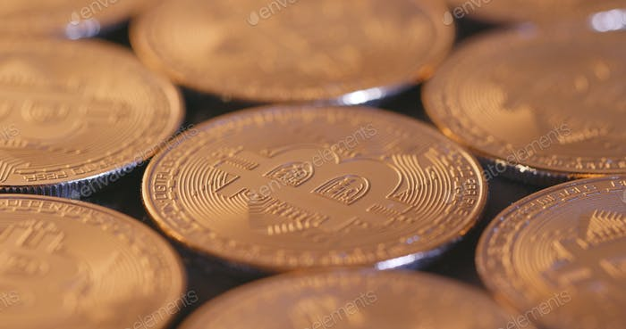 Moneda criptográfica Bitcoin Oro