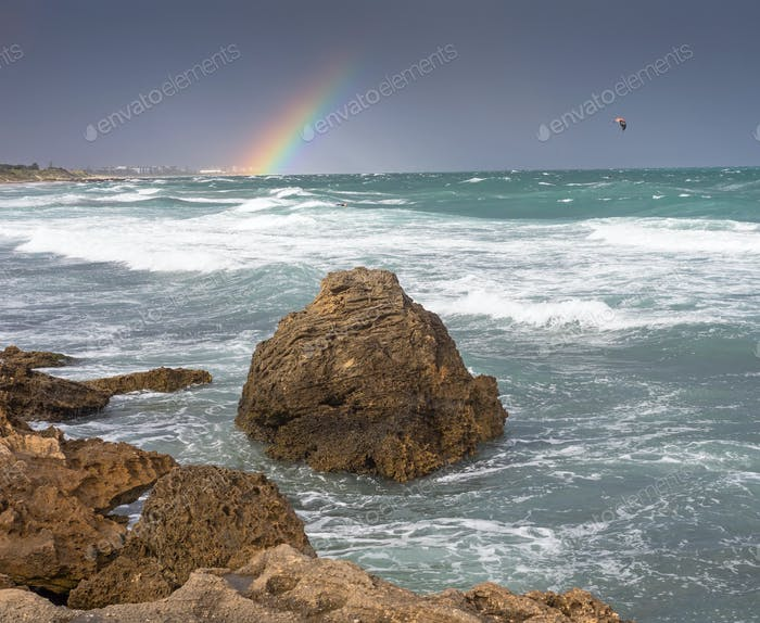 Stormy Weather and a Rainbow