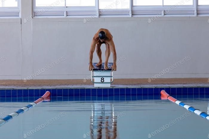 Swimmer ready to plunge