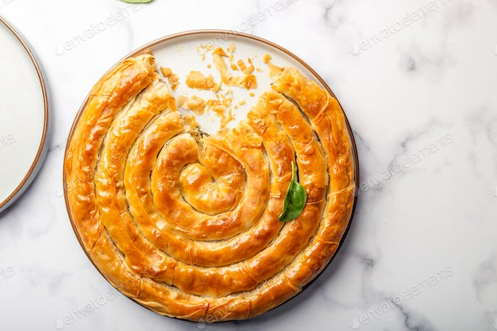 Filo Spinach and Feta Twist Pie