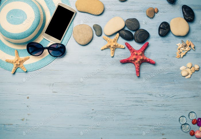Summer objects for vacation