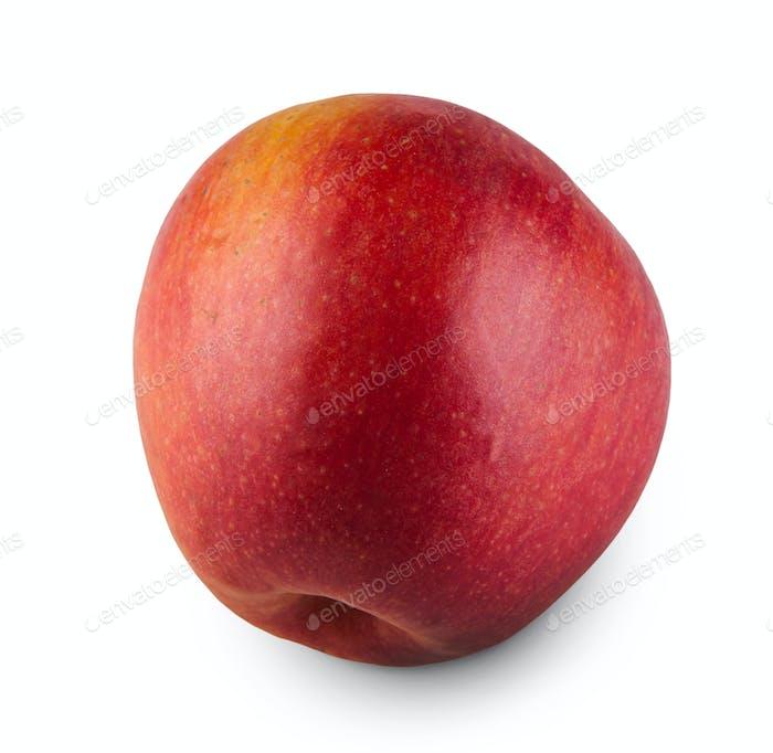One ripe fresh apple isolated on white background