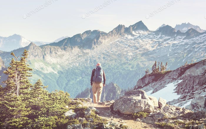 Hike in mountains