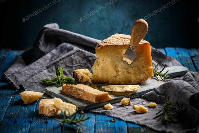 Parmesan cheese, still life