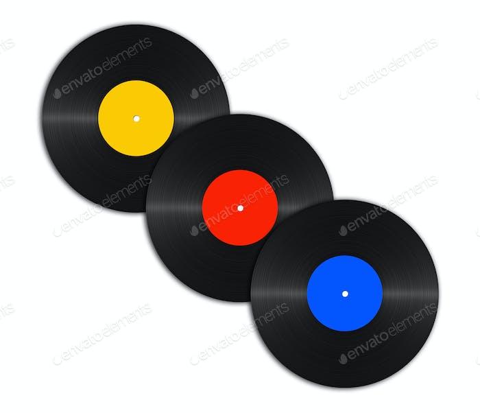 abstrakte Vinylscheiben