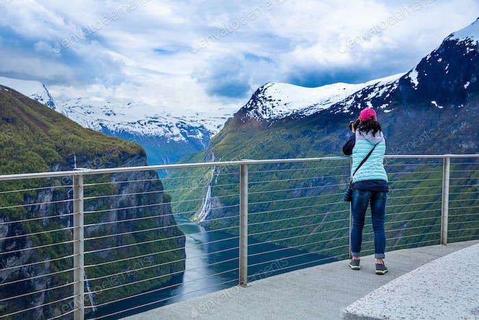 Nature photographer Geiranger fjord, Beautiful Nature Norway.