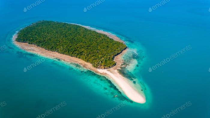 aerial view of the niamembe island, Zanzibar