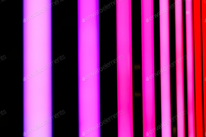 Neon pink and red shiny lines abstract background.