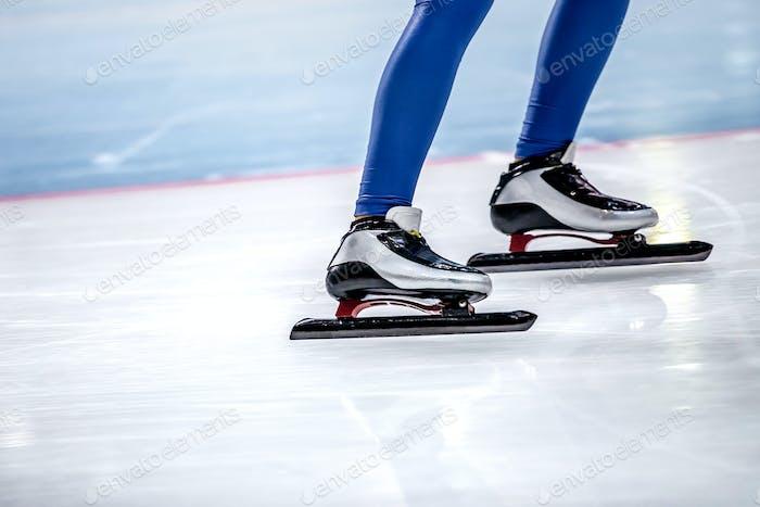 Feet Women Speed Skaters
