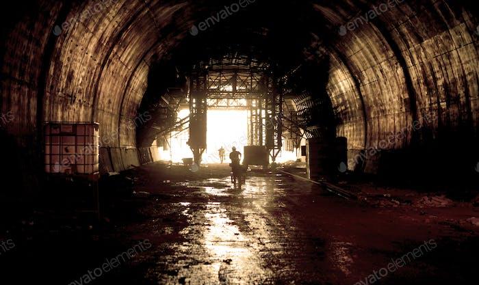 tunnel work in progress