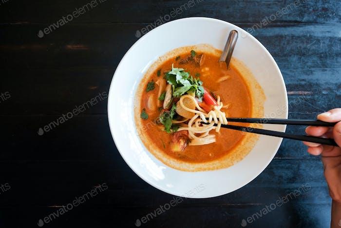 Tom Yam Soup. Traditional thai seafood.