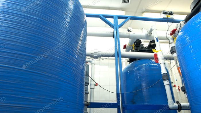 Industrial water filters.