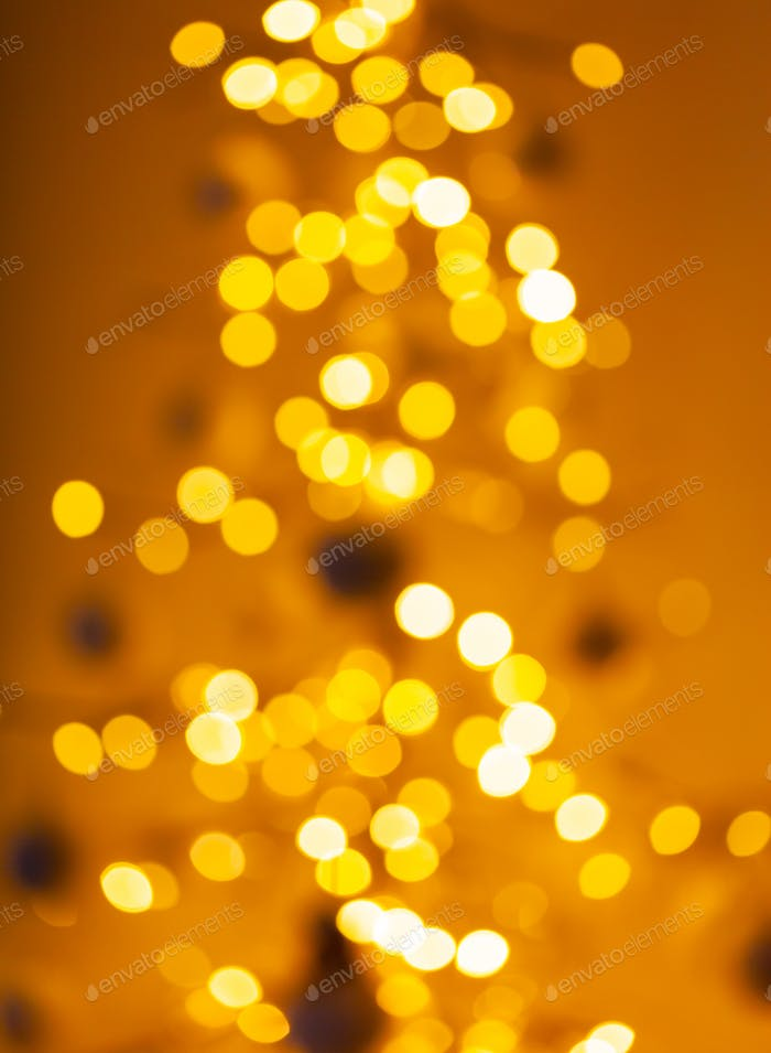Christmas tree with defocused lights.
